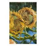 Cuatro girasoles cortados, Vincent van Gogh Papelería