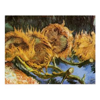 Cuatro girasoles cortados, Vincent van Gogh Postales