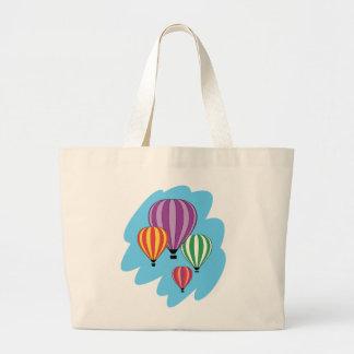 Cuatro globos coloridos del aire caliente bolsa tela grande