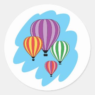 Cuatro globos coloridos del aire caliente pegatina
