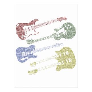 Cuatro guitarras del Grunge Postales