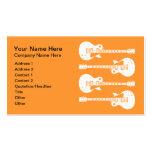 Cuatro guitarras eléctricas en negro y blanco tarjeta de negocio