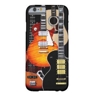 Cuatro guitarras frescas funda para iPhone 6 barely there