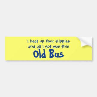 Cuatro hippies y vieja pegatina para el parachoque pegatina para auto