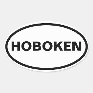 CUATRO Hoboken, New Jersey Pegatina Ovalada