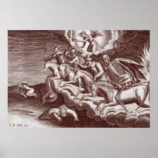 Cuatro Horsement del poster de la apocalipsis
