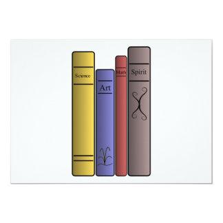 """Cuatro invitaciones de los libros invitación 5"""" x 7"""""""