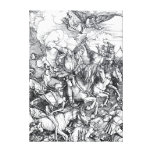 Cuatro jinetes de la apocalipsis - Albrecht Durer Impresión En Lona Estirada