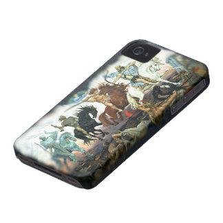 Cuatro jinetes de la apocalipsis iPhone 4 protectores