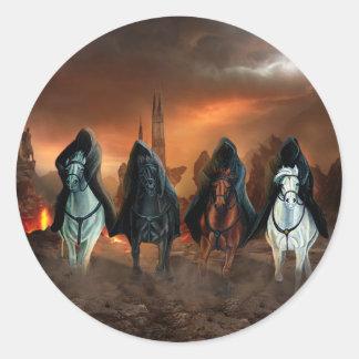 Cuatro jinetes de la apocalipsis pegatina redonda