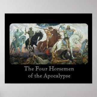 Cuatro jinetes de la apocalipsis póster