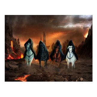 Cuatro jinetes de la apocalipsis tarjeta postal