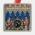 Cuatro jugadores árabes del backgammon ornamento de reyes magos