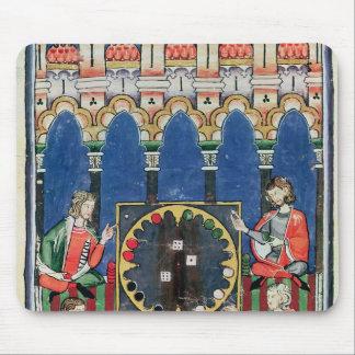 Cuatro jugadores árabes del backgammon mouse pads