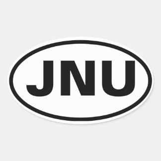 "CUATRO Juneau, Alaska ""JNU "" Pegatina Ovalada"