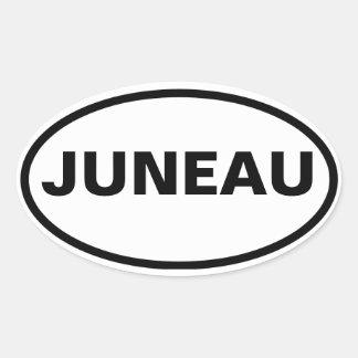 CUATRO Juneau, Alaska Pegatina Ovalada
