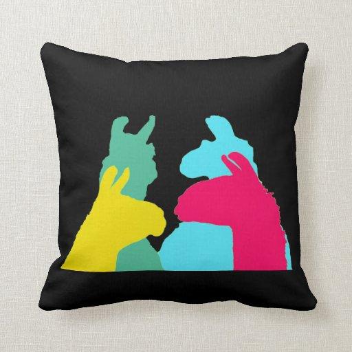Cuatro llamas en cuatro colores de la llama - un g almohadas