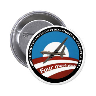 ¿Cuatro más años?  Anti-Obama Pin Redondo 5 Cm
