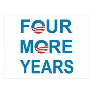 CUATRO MÁS AÑOS - Barack Obama 2012 Postal