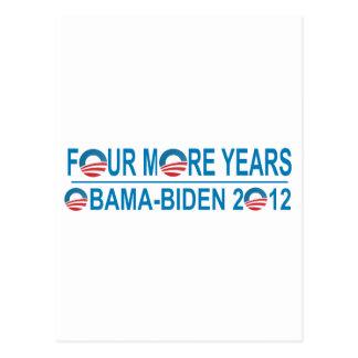 Cuatro más años - Obama-Biden 2012 Tarjetas Postales
