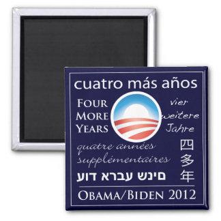 Cuatro más años para Obama/Biden Imán Cuadrado
