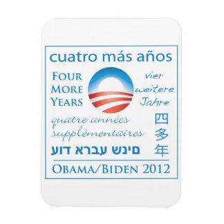 Cuatro más años para Obama/Biden Iman De Vinilo