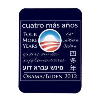 Cuatro más años para Obama/Biden Imán Foto Rectangular