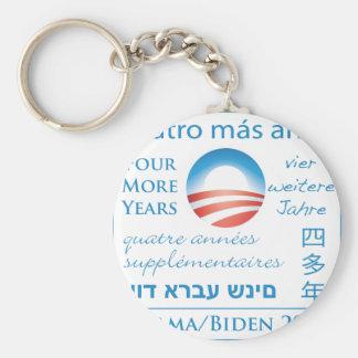 Cuatro más años para Obama/Biden Llavero Redondo Tipo Pin