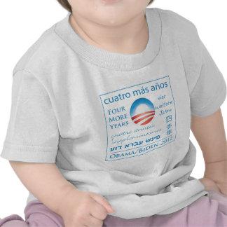 Cuatro más años para Obama/Biden Camisetas