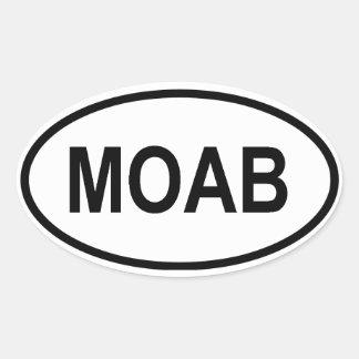 CUATRO Moab, Utah Pegatina Ovalada