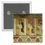 Cuatro monjes dominicanos en sus escritorios, del  pin cuadrada 5 cm