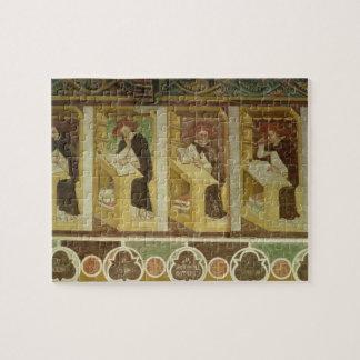 Cuatro monjes dominicanos en sus escritorios, del  rompecabezas
