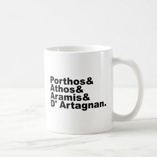 Cuatro mosqueteros - Porthos Athos Aramis Taza De Café