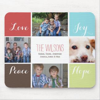 cuatro mousepads del collage de las fotos
