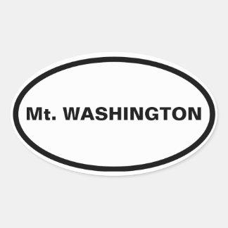 CUATRO Mt. Washington Pegatina Ovalada