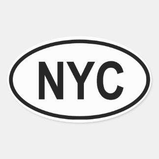 """CUATRO New York City """"NYC """" Pegatina Ovalada"""