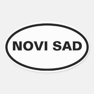 CUATRO Novi Sad Pegatina Ovalada
