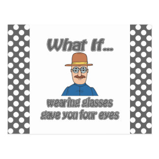 Cuatro ojos postal