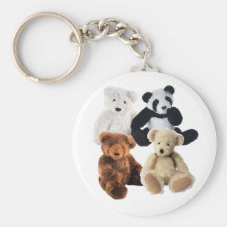 Cuatro osos llavero personalizado