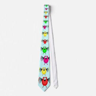 Cuatro pájaros enrrollados, corbata personalizada