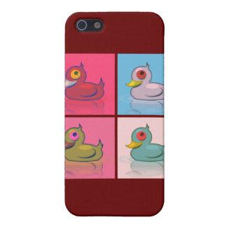 Cuatro patos coloridos iPhone 5 fundas