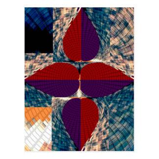 Cuatro pétalos de la pirámide del diamante - arte postales