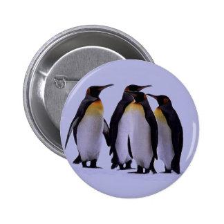 Cuatro pingüinos pin redondo 5 cm