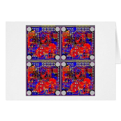 Cuatro placas de circuito impresas (PCB) Tarjeta De Felicitación