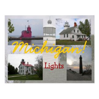 Cuatro postales de los faros de Michigan