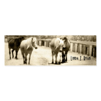 Cuatro potros salvajes tarjetas de visita mini