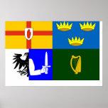 Cuatro provincias, bandera de Irlanda Impresiones