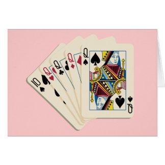 Cuatro Queens - mano de póker - juego para ganar Tarjeta Pequeña