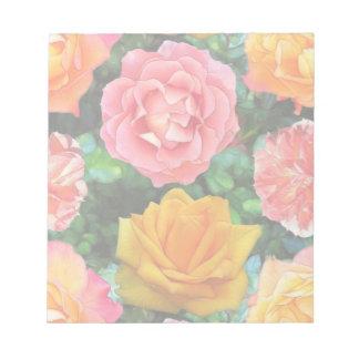 Cuatro rosas bloc de notas