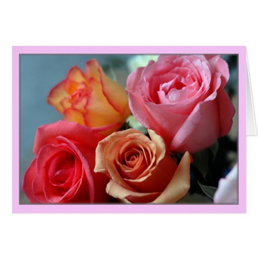 """Cuatro Rosas"" Greeting Card"